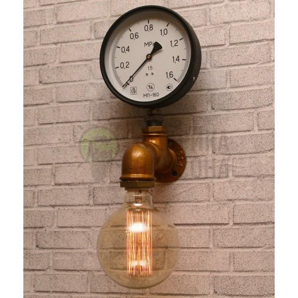 Настінний світильник з труб Jerab Manometer Copper