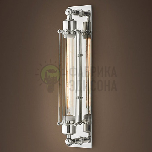 БРА RH LOFT INDUSTRIAL EDISON EDISON CAGE POLISHED NICKEL