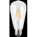LED лампа Эдисона ST64 6w 4000 прозрачное стекло