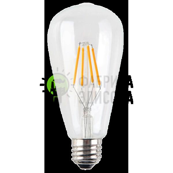 LED лампа Эдисона ST64 4w 4000 прозрачное стекло