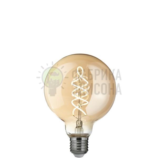 LED лампа Едісона g 95 6 W 2700 K SPIRAL