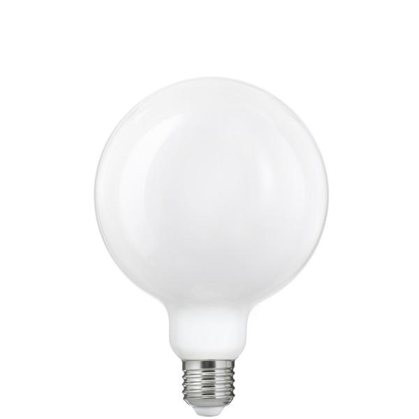 Біла матова LED лампочка G125
