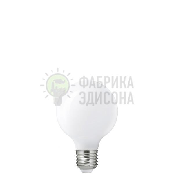 Белая матовая LED лампочка G80
