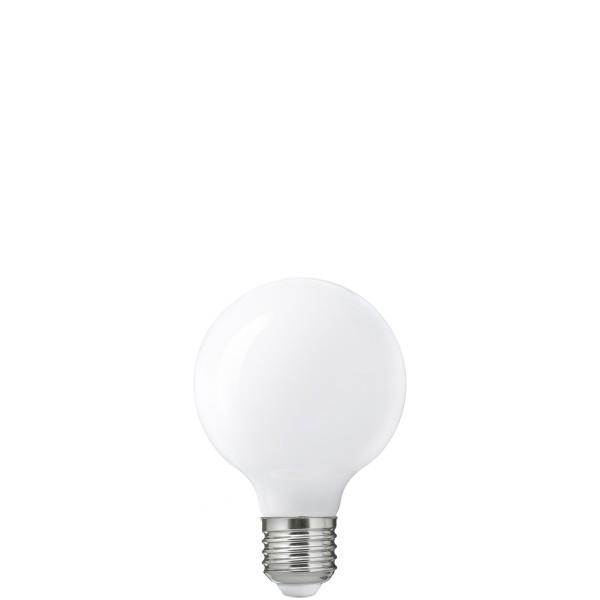 Біла матова LED лампочка G80