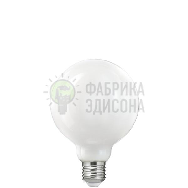 Біла матова LED лампочка G95