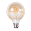 LED лампа Эдисона G95 4W 2700 жёлтое стекло