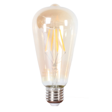 LED лампа Эдисона ST64 4w  2700 К желтое стекло