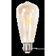 LED лампа Эдисона ST64 4w  желтое стекло  стекло