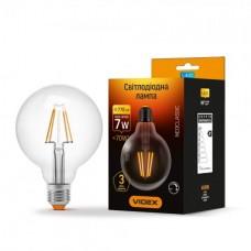LED лампа G95 7W E27 4100K 220V диммерная прозрачное стекло