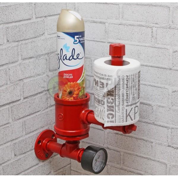 Держатель туалетной бумаги и освежителя Red