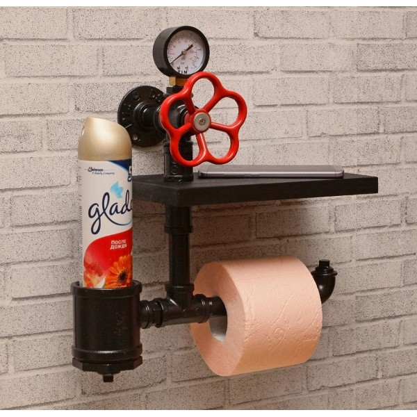 Тримач для туалетного паперу з полицею