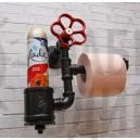 Держатель туалетной бумаги из труб Black