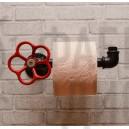Держатель туалетной бумаги Black с вентилем