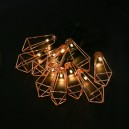 Гірлянда на сонячній батареї Solar Solar fairy lights-with Metal Diamand Lantern
