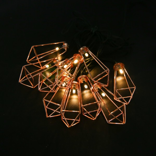 Гирлянда на солнечной батарее Solar Solar fairy lights-with Metal Diamand Lantern