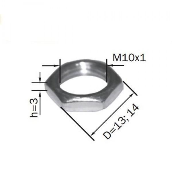 Гайка сталева (товщина 3 мм)