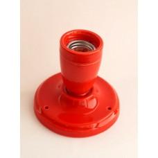 Керамический точечный светильник (спот), цвет красный.