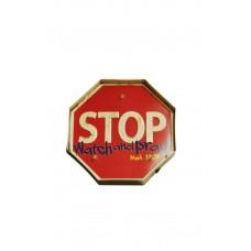 Декоративная табличка с светодиодными лампочками STOP