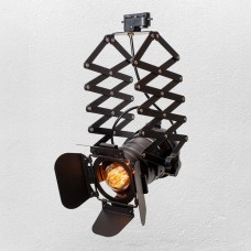 Прожектор на треке в стиле лофт черного цвета
