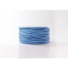 Провод в тканной оплетке Сине-голубой