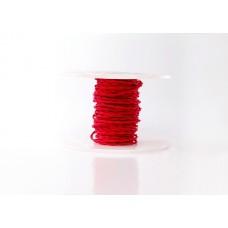 Ретро кабель витой в текстильной оплётке красный