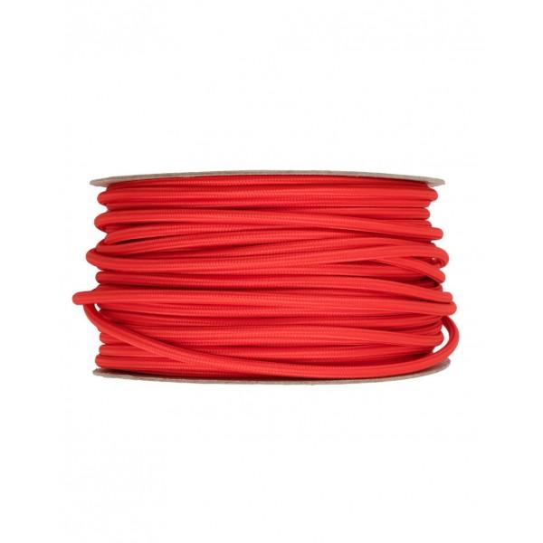 Провод в тканевой оплетке Красный