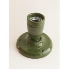 Керамический точечный светильник (спот), цвет зеленый
