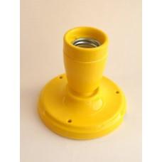 Керамический точечный светильник (спот), цвет желтый