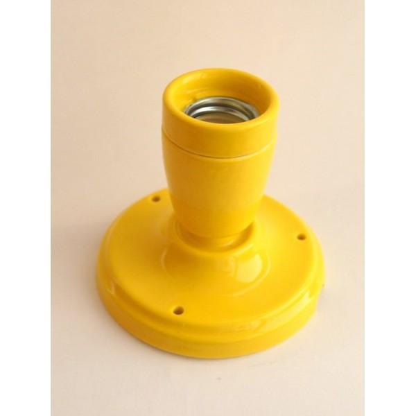 Керамічний точковий світильник (спот), колір жовтий