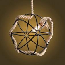 Люстра декорированная веревкой Globe