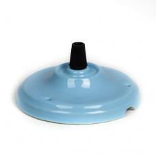 Потолочная чашка из керамики голубая