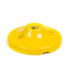 Керамический мини потолочный крепеж желтый