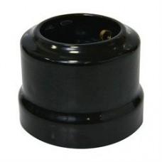 Ретро керамічна розетка чорна