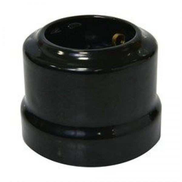 Ретро керамическая розетка Черная