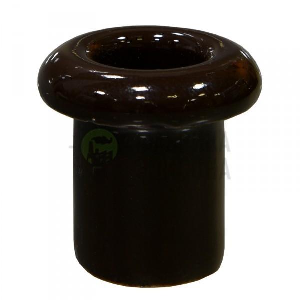 Втулка для сквозного отверстия керамическая коричневая