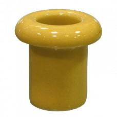Втулка для сквозного отверстия керамическая желтая