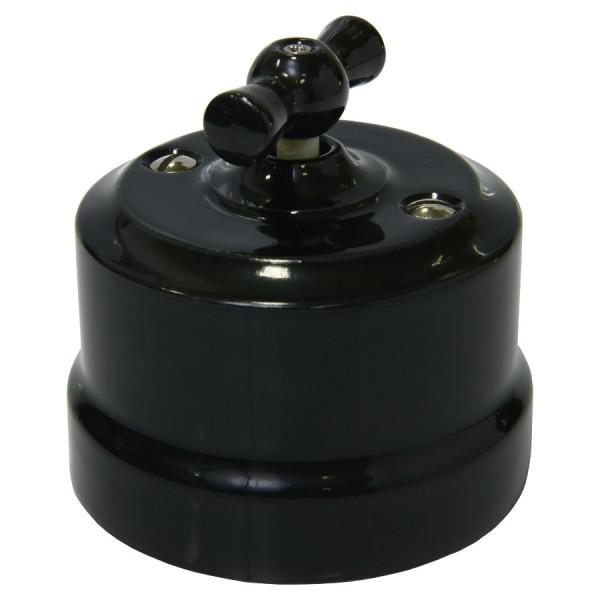 Выключатель керамический, цвет Черный