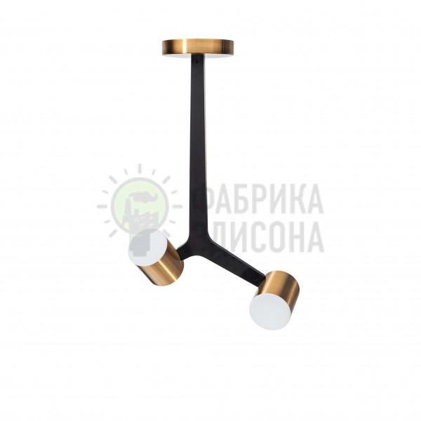 Люстра LED Lamana 2 Black&Gold