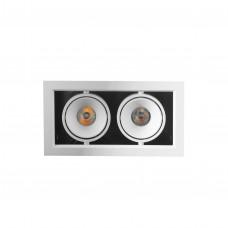Точечный LED светильник BX07-2-LED 2*7W WH 3000K