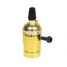 Алюмінієвий патрон золотий з вимикачем