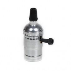 Алюмінієвий патрон срібний з вимикачем