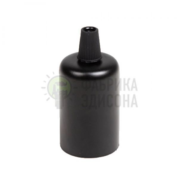 Металева накладка для цоколю Е-27 (чорна)
