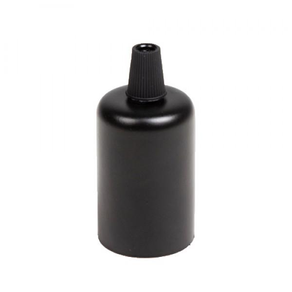 Сталева гільза для патронів Е-27 (чорна)