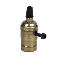 Алюминиевый патрон с выключателем Бронза