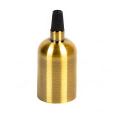 Декоративний гладкий патрон античне золото