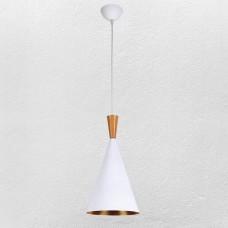 Люстра в скандинавском стиле белого цвета Metal&Wood White вигвам