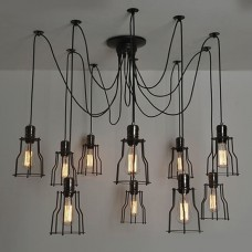 Люстра Loft Industrial 10 wire Cage Filament Pendant