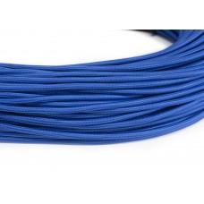 Провод в тканевой оплетке синий
