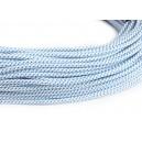Провод в тканевой оплетке бело-голубой