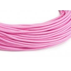 Провод в тканевой оплетке розовый